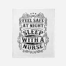 Unique Humorous nurse quotes Throw Blanket
