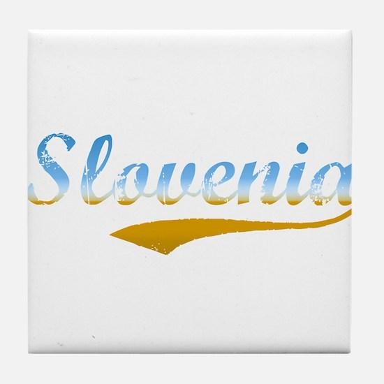 Slovenia beach flanger Tile Coaster