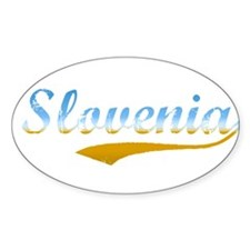 Slovenia beach flanger Oval Decal