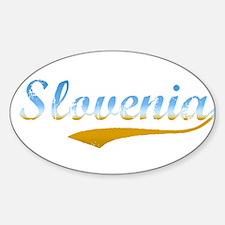 Slovenia beach flanger Oval Decal