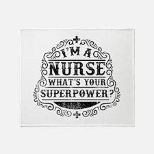 Funny Humorous nurse quotes Throw Blanket