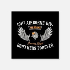"""101st Airborne Brothers Square Sticker 3"""" x 3"""""""
