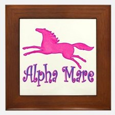 Alpha Mare. Pink Horse Framed Tile