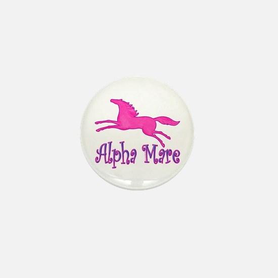 Alpha Mare. Pink Horse Mini Button