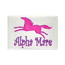 Alpha Mare. Pink Horse Rectangle Magnet