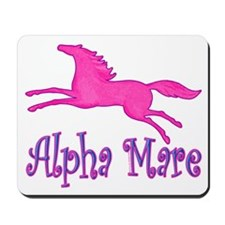 Alpha Mare. Pink Horse Mousepad
