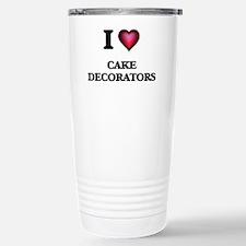 I love Cake Decorators Stainless Steel Travel Mug