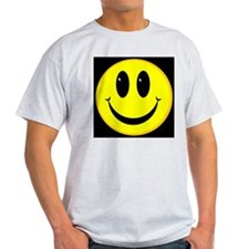 Happy Face Ash Grey T-Shirt
