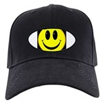 Happy Face Black Cap