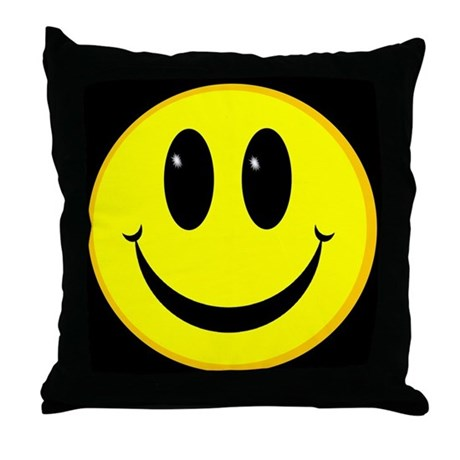 Happy Face Throw Pillow by smilyface