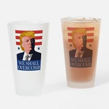 Donald Trump Combover Drinking Glass