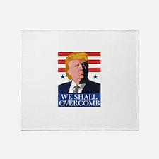 Donald Trump Combover Throw Blanket