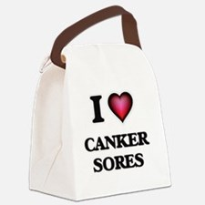 I love Canker Sores Canvas Lunch Bag