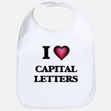 I love Capital Letters Bib