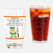 Curling joke Drinking Glass