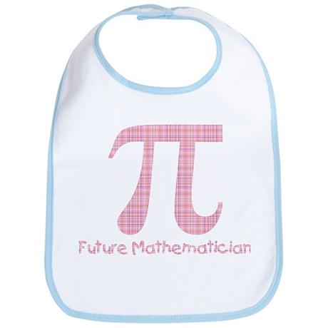 Future Mathematician Girl Bib