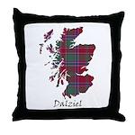 Map - Dalziel Throw Pillow