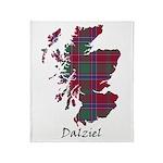 Map - Dalziel Throw Blanket