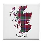 Map - Dalziel Tile Coaster