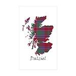 Map - Dalziel Sticker (Rectangle 10 pk)