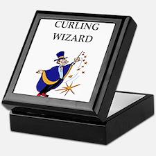 Curling joke Keepsake Box