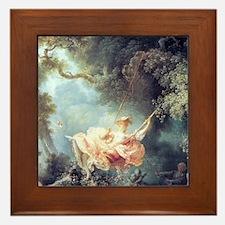 Cute Fragonard Framed Tile