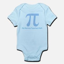 My Mommy Teaches Math (blue) Infant Bodysuit
