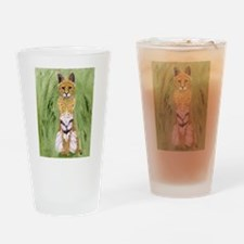 Serval Cat Drinking Glass