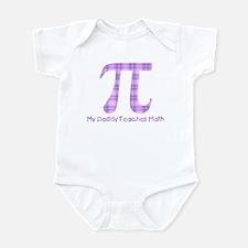 My Daddy Teaches Math (girl) Infant Bodysuit