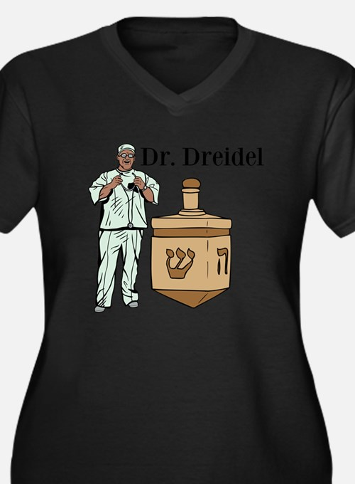 Dr. Dreidel Women's Plus Size V-Neck Dark T-Shirt