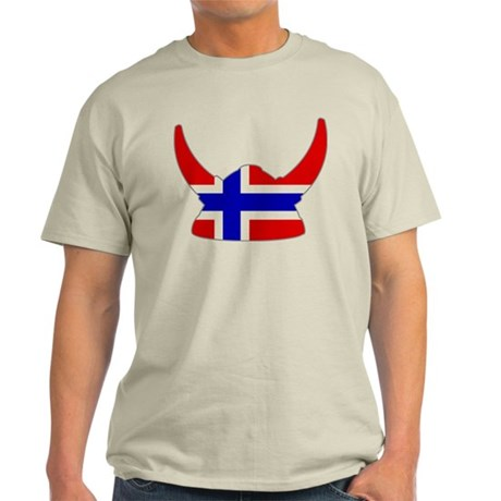 Norwegian Viking Helmet Light T-Shirt