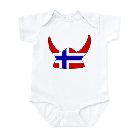 Norwegian Viking Helmet Infant Bodysuit