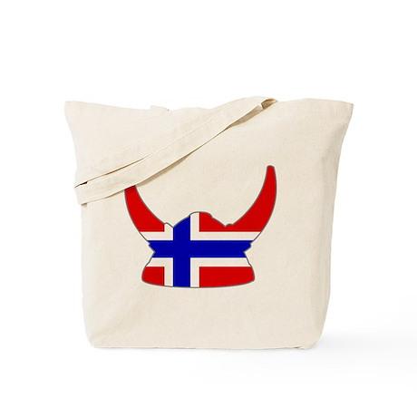 Norwegian Viking Helmet Tote Bag