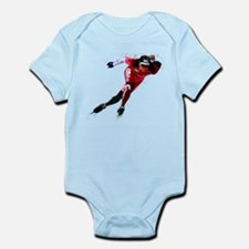 Speed Skater in Red Body Suit