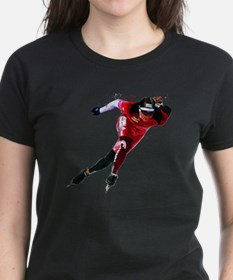 Speed Skater in Red T-Shirt