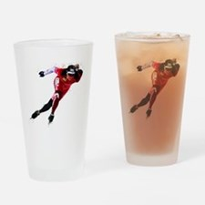 Speed Skater in Red Drinking Glass