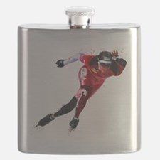 Speed Skater in Red Flask