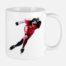 Speed Skater in Red Mugs