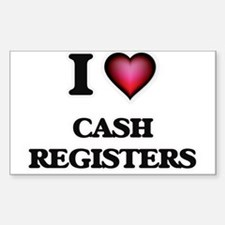 I love Cash Registers Decal