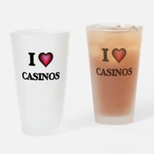 I love Casinos Drinking Glass