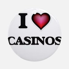 I love Casinos Round Ornament