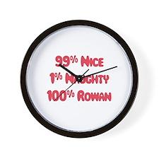 Rowan - 1% Naughty Wall Clock