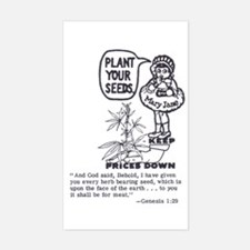 PLANT YOUR SEEDS Rectangle Decal