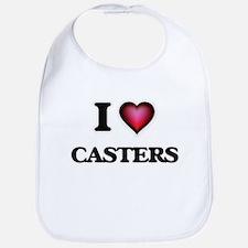 I love Casters Bib