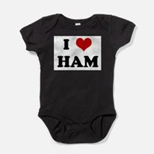 Unique I love ham and eggs Baby Bodysuit