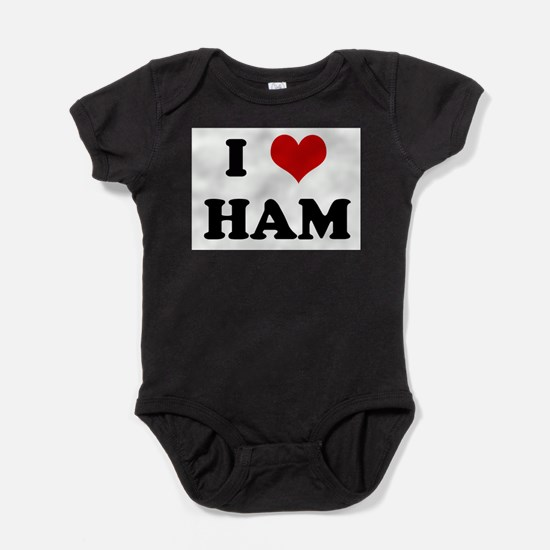 Unique Ham Baby Bodysuit