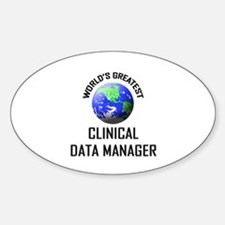 World's Greatest CLINICAL DATA MANAGER Decal