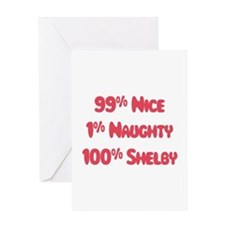 Shelby - 1% Naughty Greeting Card