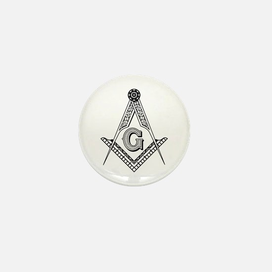 Masonic Symbol Mini Button