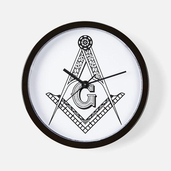 Masonic Symbol Wall Clock